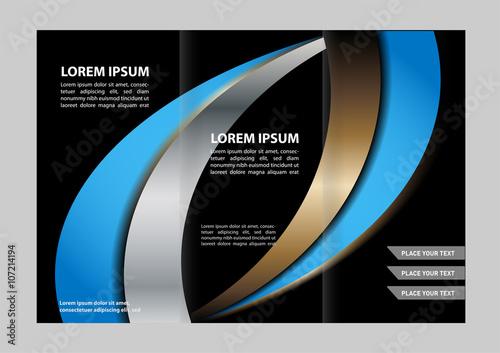 Poster Abstract wave brochure design template folder leaflet