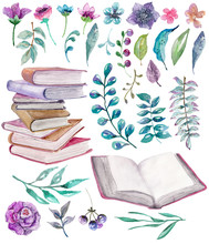 Watercolor Floral And Nature E...