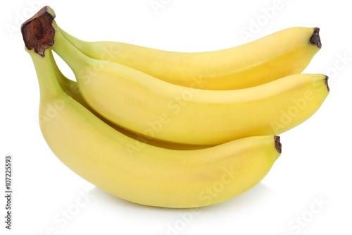 Fotografie, Obraz  Banane Bananen Obst Früchte Freisteller freigestellt isoliert