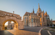 Roman Catholic Matthias Church and Fisherman's Bastion in Early Morning in Budapest, Hungary