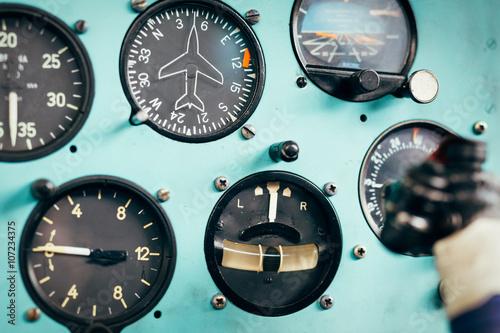 Türaufkleber Hubschrauber Airplane cockpit