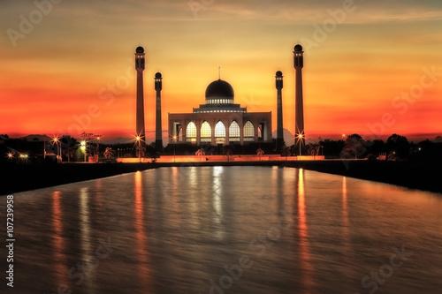 songkhla-meczet-przy-zmierzchem-tajlandia