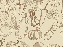 Vegetable Seamless Vector For Adults