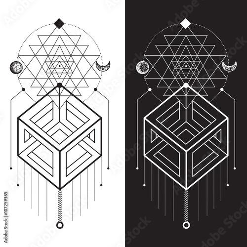 Fotografie, Obraz  Sacred Geometry. Magic totem