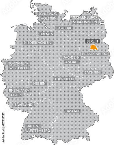 Deutschlandkarte Berlin Buy This Stock Illustration And