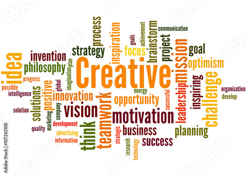 Creative, word cloud concept 7