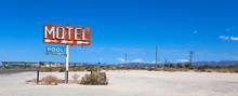 Abadoned, Vintage Motel Sign On Route 66