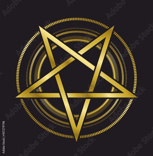 Photo  pentagram symbol star