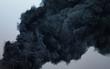 Leinwandbild Motiv Black cloud of a terrible explosion in the sky