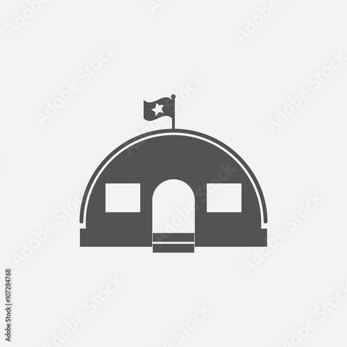 Barracks icon of vector illustration for web and mobile Canvas Print