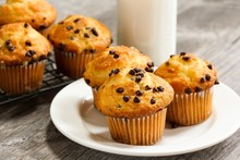 Chocolate Chip Breakfast Muffins Close Up