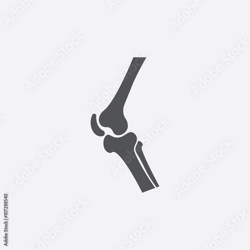 Obraz Knee icon of vector illustration for web and mobile - fototapety do salonu