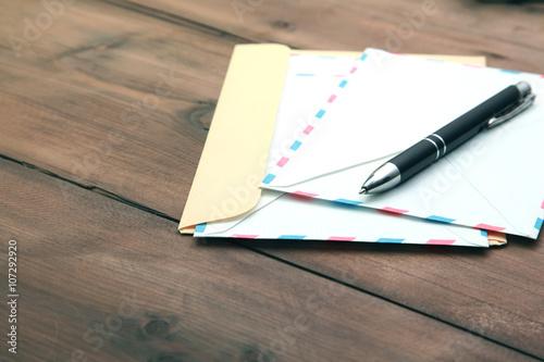 Fotografía  Cartas y la pluma