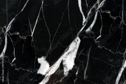 Leinwand Poster  black marble pattern with white line background on high resolution
