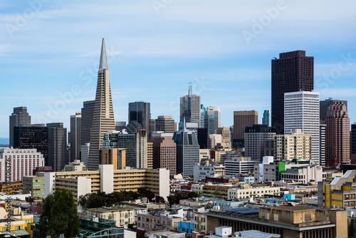 Keuken foto achterwand San Francisco Skyscrapers in downtown San Francisco