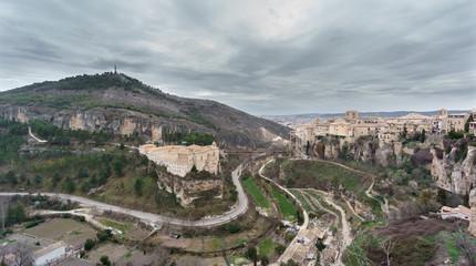 Fototapeta na wymiar View of Cuenca and the Parador de Turismo, Spain
