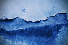 Blue Grunge Wall Tone Texture Background