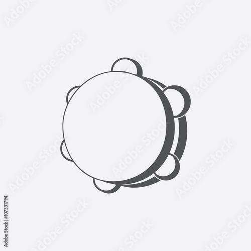 Fotografia Tambourine icon of vector illustration for web and mobile