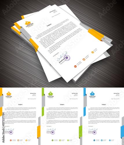 Fototapeta Letterhead. File contains text editable AI, EPS10,JPEG and free font link used in design. obraz