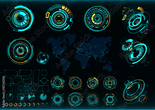 Fotomural  Abstract future, concept vector futuristic interface
