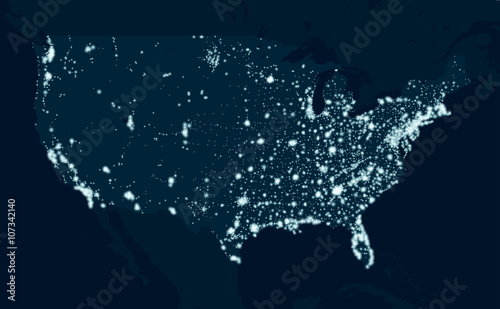 Photo  Communications map of the United States