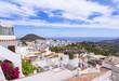 canvas print picture - Die weißen Häuser im Ort Frigiliana, Nerja, Costa del Sol, Andalusien, Spanien, Europa