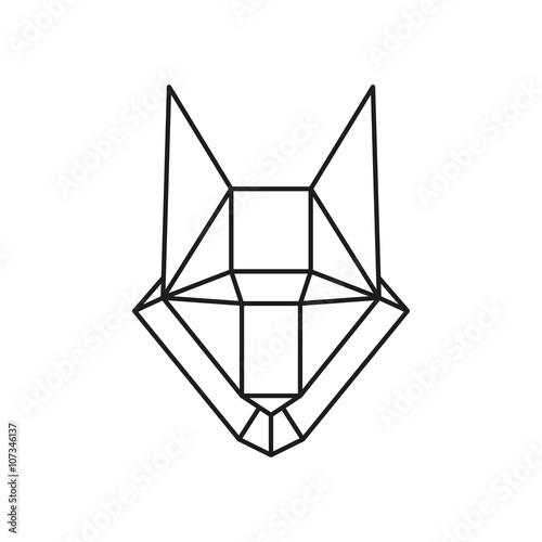 Fotografía  Geométrica del vector del lobo