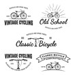 Set of vintage road bicycle labels.