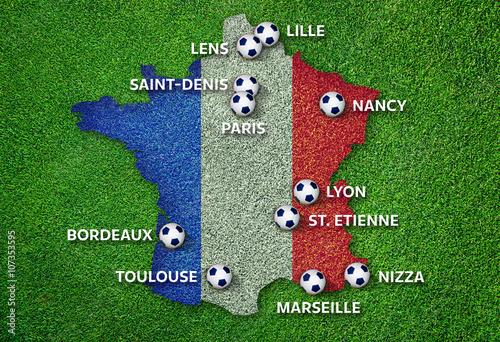 Photo  Infographie Villes de l'Euro 2016 France