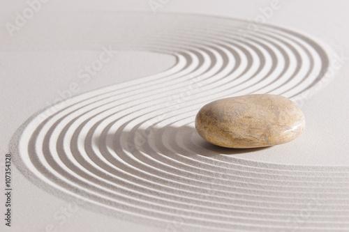 Recess Fitting Zen ZEN Garten mit Sand und Stein