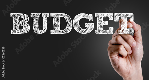 Fotografía  Hand writing the text: Budget