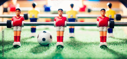 Photo  table football game, abstract light
