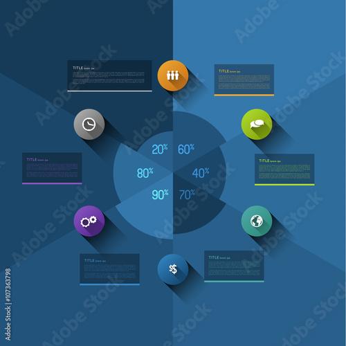 Infographic Pie Chart Template Design Element