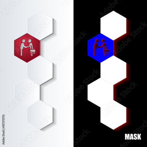 Photo  Hexagons_Red_Icon_Vertical