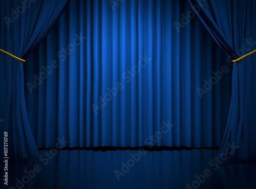 Fototapeta Blue curtains