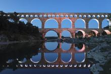 Pont Du Gard, Roman Aqueduct, River Gard, Languedoc-Roussillon, France