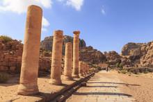 Colonnaded Street, City Of Petra Ruins, Petra, Jordan