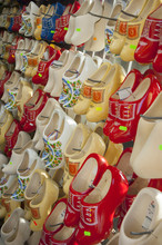Clogs On Display In A Tourist Shop, Amsterdam, The Netherlands