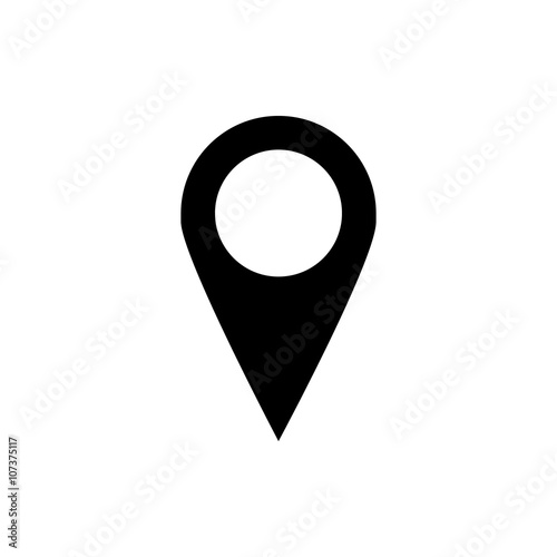 Fotografía  Location pin flat icon isolate on white background vector illustration eps 10