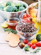Superfood concept. Detox program ingredients.Healthy eating