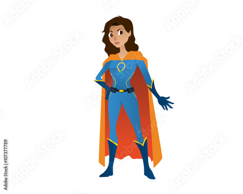 Photo  Superhero Girl Character - Ready for Crime