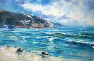 FototapetaArt Oil Painting Picture Sea