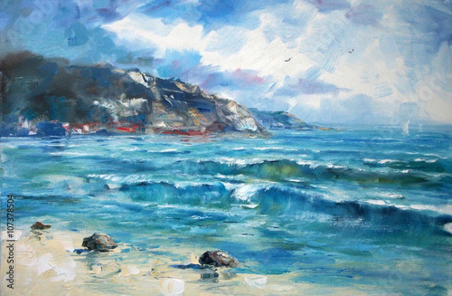 Art Oil Painting Picture Sea - 107378504