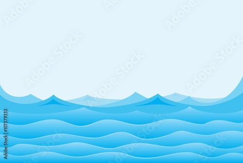 Abstract wave Blue sea.