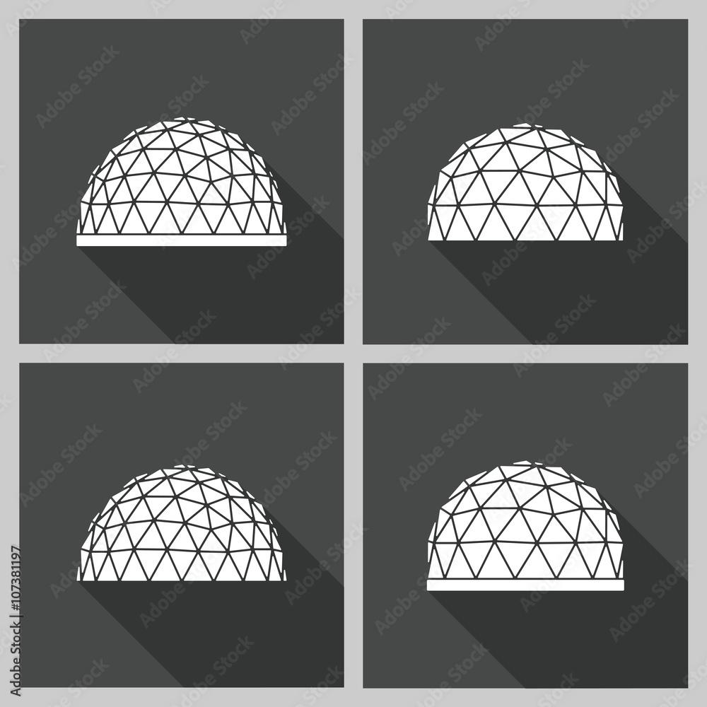 Fototapety, obrazy: geodesic dome Vector flat