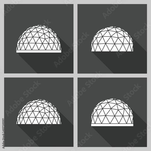 geodesic dome Vector flat Fototapet