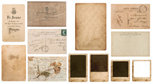Antique French Carte De Visite. Vintage Business Card