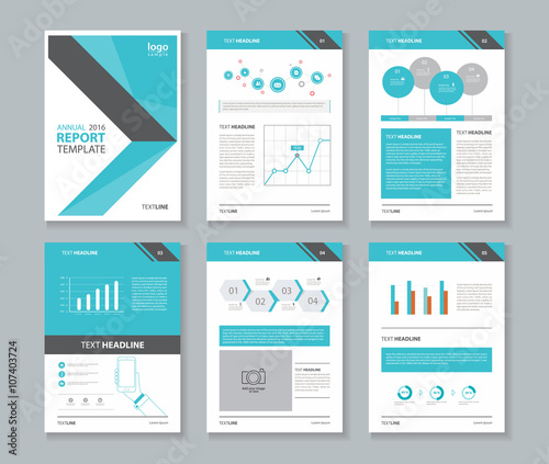 Company profile annual report brochure flyer layout for Information technology company profile template