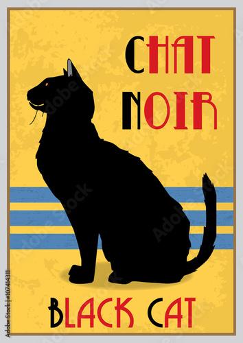 czarny-kot-w-stylu-art-deco