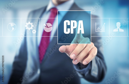 Photographie  businessman touching CPA / Concept